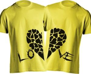 Young Trendz Printed Men's Round Neck Yellow T-Shirt