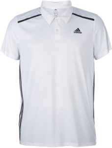 Adidas Solid Men S Polo Neck White T Shirt Best Price In India