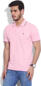 7af2ab56e Allen Solly Solid Men's Polo Neck Pink T-Shirt