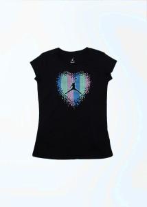35983805bdaa91 Jordan Kids Girls Printed T Shirt Black Best Price in India