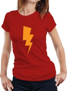 Fanideaz Printed Women's Round Neck Red T-Shirt