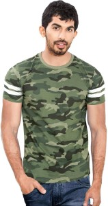 48399a6454 Wear Your Opinion Military Camouflage Men's Round Neck Multicolor T-Shirt