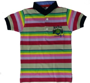 3c515851a3 Pogo Boys Striped T Shirt Multicolor Best Price in India | Pogo Boys ...