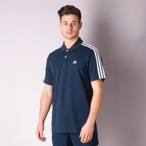 3e4575a7a38d Adidas Solid Men s Polo Neck Blue T Shirt Best Price in India ...