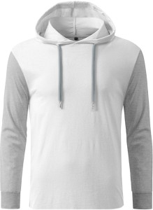 GHPC Solid Men's Hooded White T-Shirt