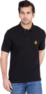 d34503858 Red Tape Solid Men s Polo Neck Black T Shirt Best Price in India ...