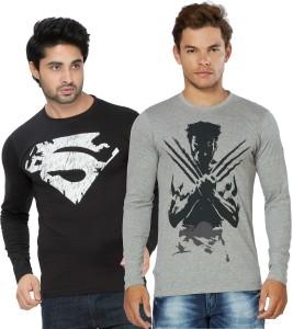 Alan Jones Graphic Print Men's Round Neck Black, Grey T-Shirt