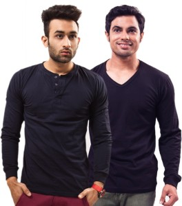 Unisopent Designs Solid Men's Henley Dark Blue, Dark Blue T-Shirt