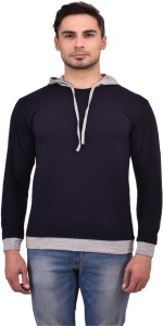 Unisopent Designs Solid Men's Round Neck Dark Blue T-Shirt
