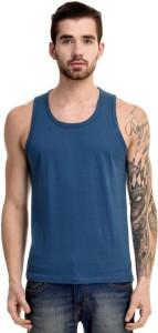 Mi Moda Solid Men's Round Neck Light Blue T-Shirt
