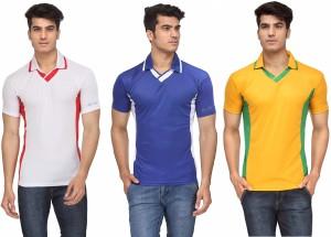33fe384be53 Rico Sordi Solid Men s V neck Multicolor T Shirt Pack of 3 Best ...