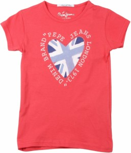 Pepe Jeans Girls Printed T Shirt Red Pack Of 1 Best Price In India
