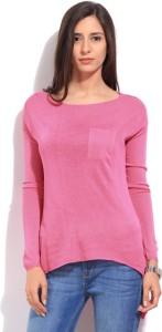 Lee Solid Women's Pink T-Shirt