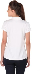 a6592fd051fbd2 Vector X Solid Women s Polo Neck White T Shirt Best Price in India ...