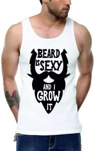 Elepants Graphic Print Men's Scoop Neck White T-Shirt