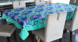 Lushomes Floral 6 Seater Table Cover