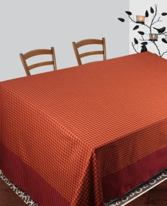 Dhrohar Checkered 6 Seater Table Cover