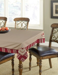 Elan Embroidered, Lattice, Abstract 6 Seater Table Cover