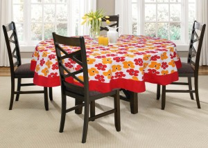 Lushomes Printed 4 Seater Table Cover