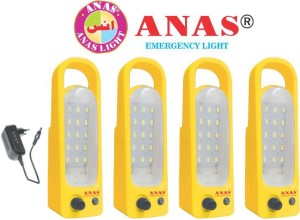 Anas 18 LED WITH CHARGER RECHARGEABLE Emergency Light Yellow