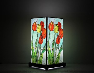 9 Gifts Glass Painting Print Table Lamp