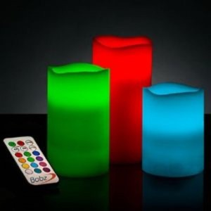 Flintstop 3 PC LED Candle Stand With Remote Table Lamp