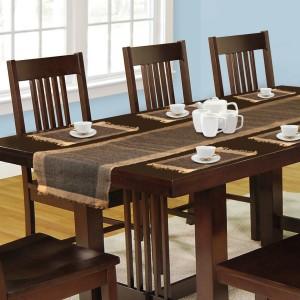 Dhrohar Brown Organic Cotton Table Linen Set & Dhrohar Brown Organic Cotton Table Linen Set Pack of 7 Best Price in ...