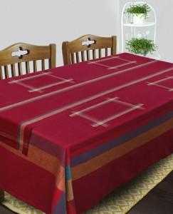 Dhrohar Maroon Organic Cotton Table Linen Set