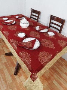 Heritage Fabs Printed 6 Seater Table Cover