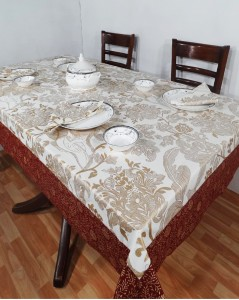 Heritage Fabs Abstract 6 Seater Table Cover
