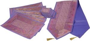 Valintino Textile Purple 157.4 cm Table Runner