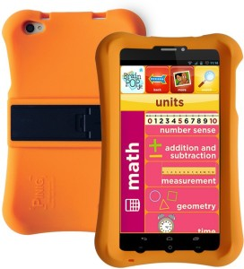 Pinig Kids Smart Tablet 6 to 8 with Orange Bumper 8 GB 6.9 inch with Wi-Fi+3G Tablet (Silver & Black)