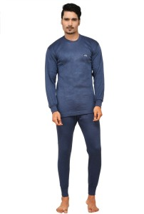 ddfae0e88f Lux Cottswool Blue Full Sleeves Round Neck Men s Top Pyjama Set Best Price  in India