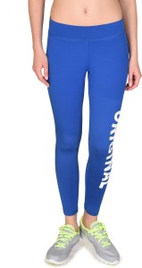 f649b4ad065 Onesport Solid Women s Blue Tights Best Price in India