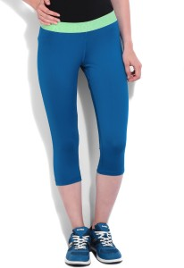 8874e1e15c41 Reebok Solid Women s Blue Tights Best Price in India
