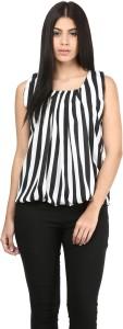 Mayra Casual Sleeveless Printed Women's White Top