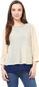 Rare Casual 3/4th Sleeve Solid Women's White Top