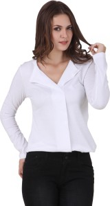 Texco Casual Full Sleeve Solid Women's White Top