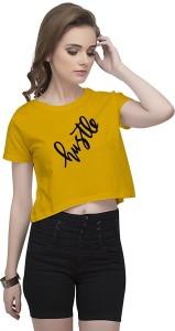 Uptown 18 Casual Sleeveless Printed Women's Yellow Top