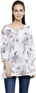 Anekaant Casual 3/4th Sleeve Printed Women Multicolor Top