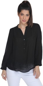 Fast n Fashion Casual Full Sleeve Solid Women's Black Top
