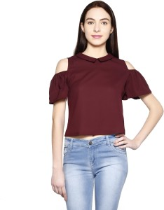 Today Fashion Casual Short Sleeve Solid Women's Red Top