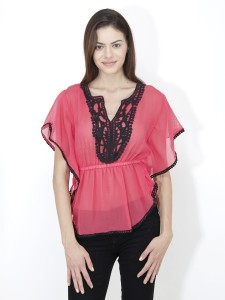 Mayra Casual Short Sleeve Solid Women's Pink Top