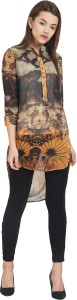 Griffel Casual Cap Sleeve Floral Print Women's Multicolor Top