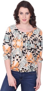Aania Casual 3/4th Sleeve Printed Women's Multicolor Top