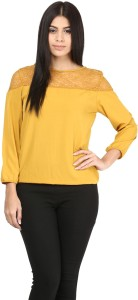 Mayra Casual Full Sleeve Solid Women's Yellow Top