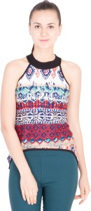 khhalisi Casual Sleeveless Printed Women's Multicolor Top