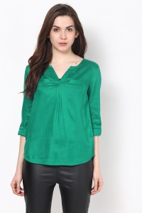 9fa38d7efac1fa Harpa Casual Roll up Sleeve Solid Women s Green Top Best Price in India |  Harpa Casual Roll up Sleeve Solid Women s Green Top Compare Price List From  Harpa ...