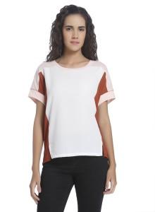 Vero Moda Casual Short Sleeve Solid Women's Multicolor Top