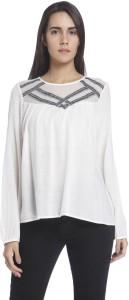 Vero Moda Casual Full Sleeve Solid Women's White Top